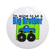 Monster Truck Big Brother Ornament (Round)
