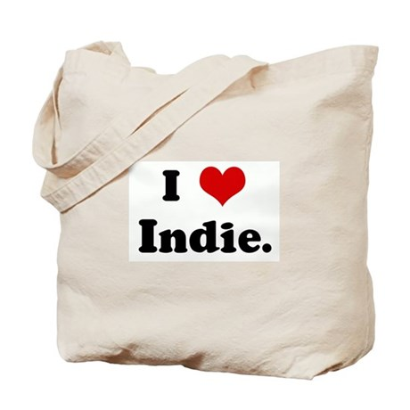 I Love Indie. Tote Bag
