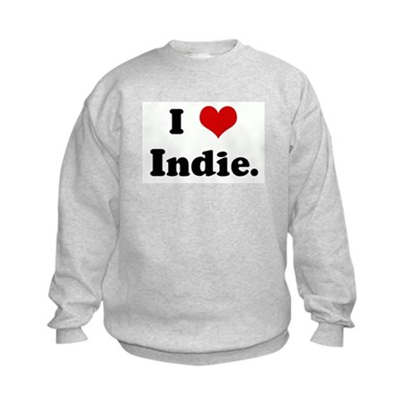 I Love Indie. Kids Sweatshirt
