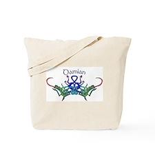 Damian's Celtic Dragons Name Tote Bag