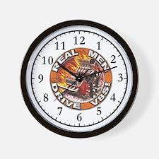 Real Men Drive V8s Wall Clock