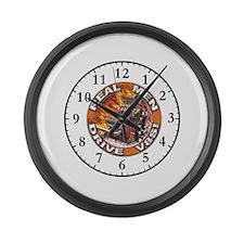 Real Men Drive V8s Large Wall Clock