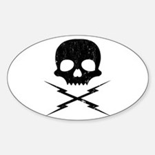 death proof stuntman mike Oval Decal