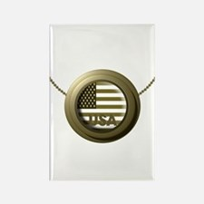 USA Gold Rectangle Magnet