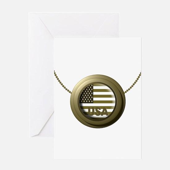 USA Gold Greeting Card