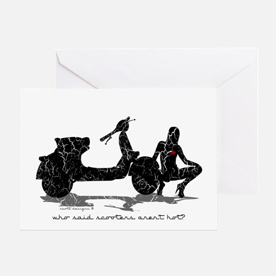 Who Said Scooters Aren't Hot? Greeting Card