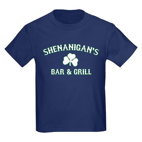 shenanigan's bar & grill Kids Dark T-Shirt