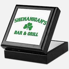 shenanigan's bar & grill Keepsake Box