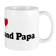 I Love My Nana and Papa Small Mugs