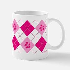 Flower Argyle in Pink Mug
