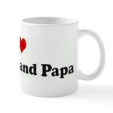 I Love My Nana and Papa Mug