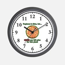 Wise Pizza Wall Clock