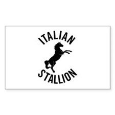 italian stallion Rectangle Decal