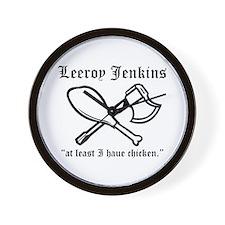 leeroy jenkins Wall Clock