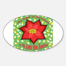 Christmas Point Oval Decal