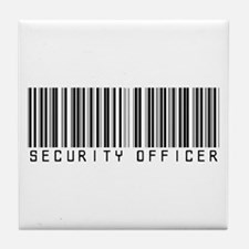 Security Officer Barcode Tile Coaster