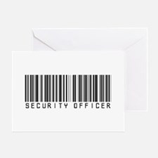 Security Officer Barcode Greeting Card