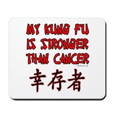 Kung Fu Stronger Than Cancer Mousepad