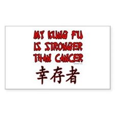 Kung Fu Stronger Than Cancer Rectangle Decal
