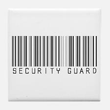 Security Guard Barcode Tile Coaster