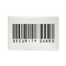 Security Guard Barcode Rectangle Magnet