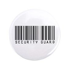"Security Guard Barcode 3.5"" Button"