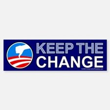 Keep the Change NObama Bumper Bumper Bumper Sticker
