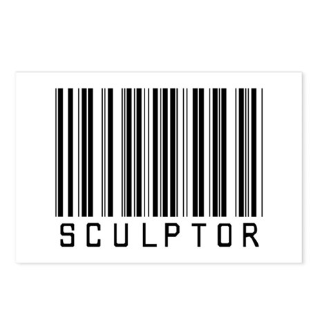 Sculptor Barcode Postcards (Package of 8)