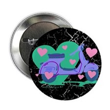 """Scooter Hearts 2.25"""" Button"""