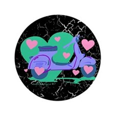 """Scooter Hearts 3.5"""" Button"""