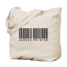 Screen Printer Barcode Tote Bag
