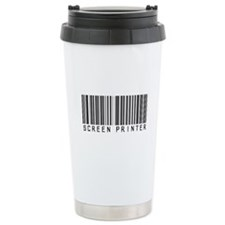 Screen Printer Barcode Travel Mug