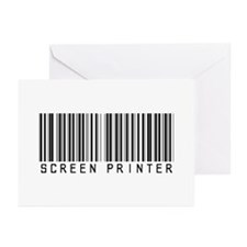 Screen Printer Barcode Greeting Cards (Pk of 20)