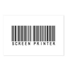 Screen Printer Barcode Postcards (Package of 8)
