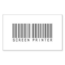 Screen Printer Barcode Rectangle Decal
