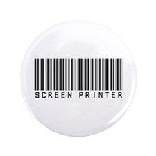 """Screen Printer Barcode 3.5"""" Button (100 pack)"""