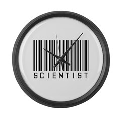 Scientist Barcode Large Wall Clock