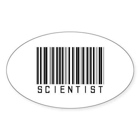 Scientist Barcode Oval Sticker (50 pk)