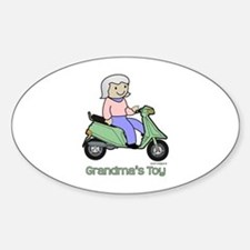 Grandma's Toy Oval Decal