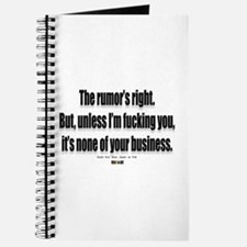 It's none of your business Journal