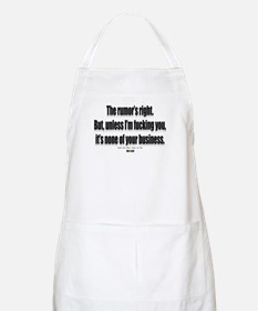 It's none of your business BBQ Apron