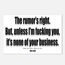 It's none of your business Postcards (Package of 8