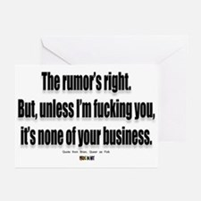 It's none of your business Greeting Cards (Package