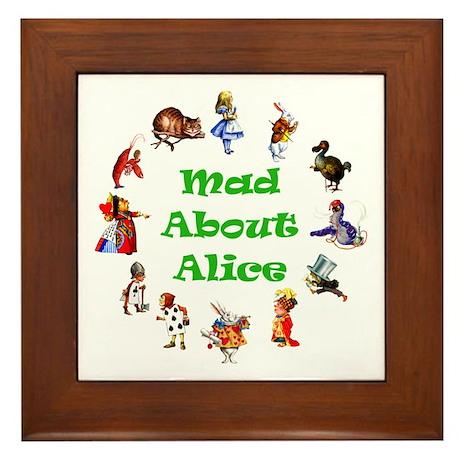MAD ABOUT ALICE - GREEN Framed Tile