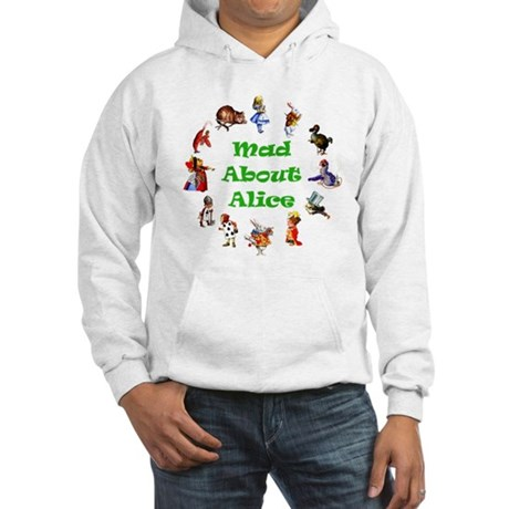 MAD ABOUT ALICE - GREEN Hooded Sweatshirt