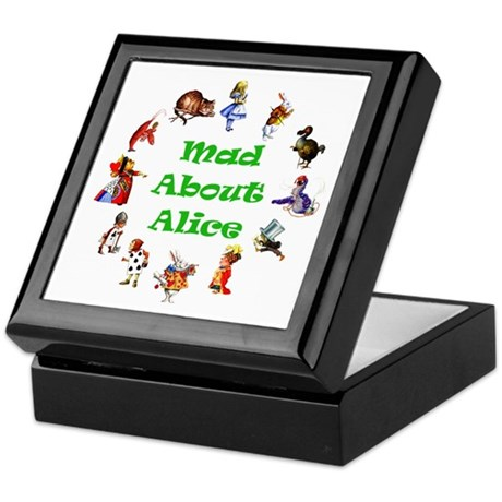 MAD ABOUT ALICE - GREEN Keepsake Box