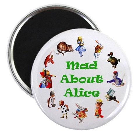 MAD ABOUT ALICE - GREEN Magnet