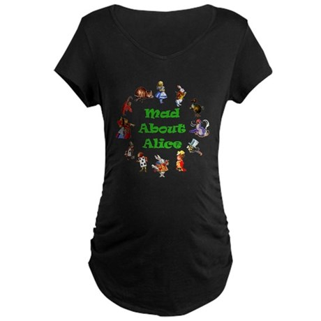 MAD ABOUT ALICE - GREEN Maternity Dark T-Shirt