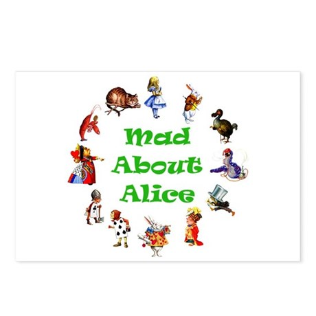 MAD ABOUT ALICE - GREEN Postcards (Package of 8)