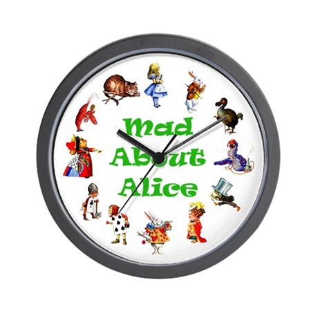 MAD ABOUT ALICE - GREEN Wall Clock